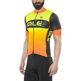 Alé Cycling R-EV1 Rumbles Kortermede Sykkeltrøyer Herre Gul/Orange